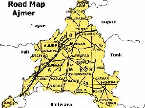 road map ajmer