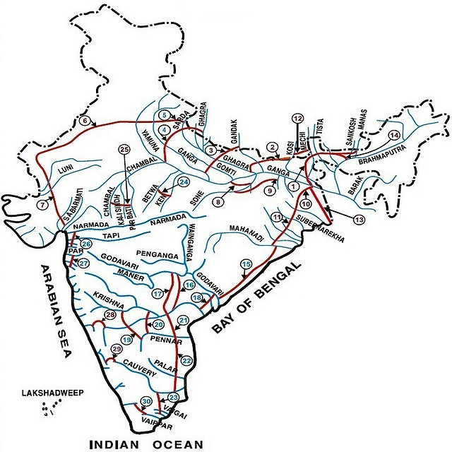 river linking map