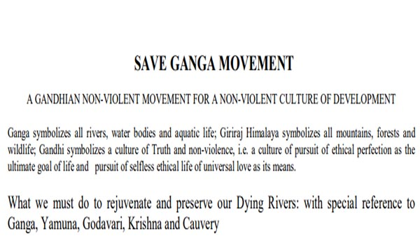 save Ganga movement