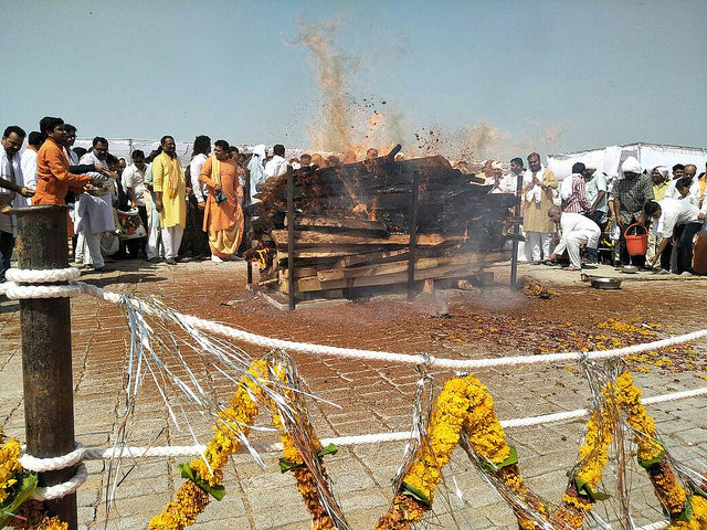 cremation Anil Madhav Dave