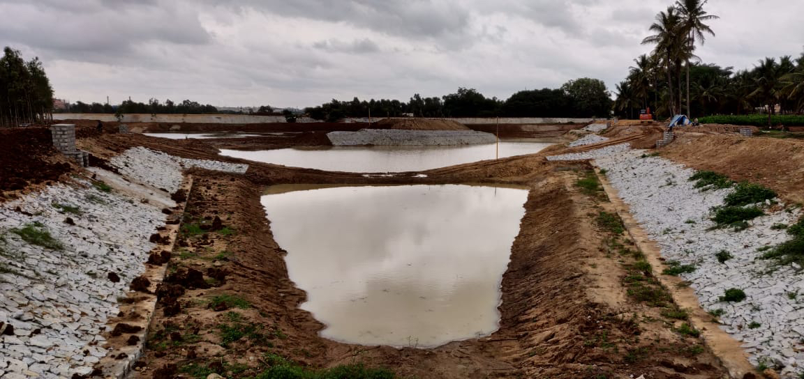 view of Vabsandra lake after rejuvenation in Bengaluru